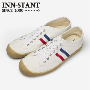 INN-STANT CANVAS SHOES #103 WHITE/RED-BLUE(GUM SOLE)