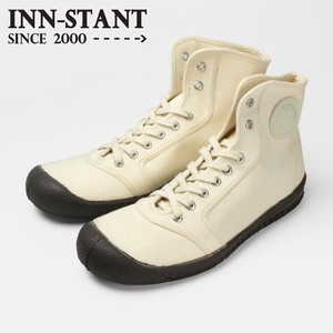 INN-STANT HI-CUT CANVAS #404 NATURAL(D.BROWN SOLE)
