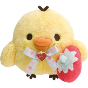 Rilakkuma Soft Toy Yellow Strawberry Party
