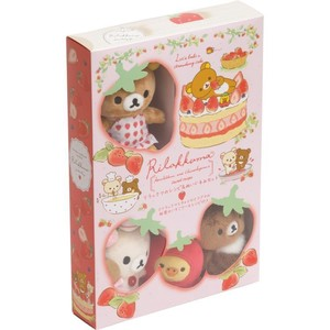 Rilakkuma Rilakkuma Recipe Soft Toy Set Strawberry Party