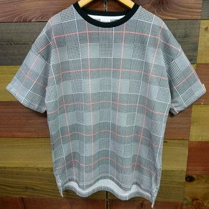 Checkered Repeating Pattern Short Sleeve T-shirt