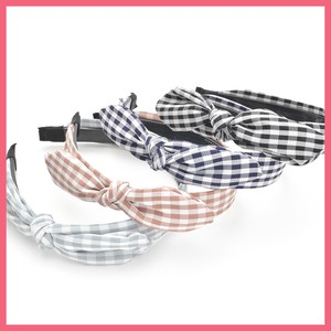 Gingham Check Wired Ribbon Headband