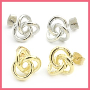 Triple Ring Button Pierced Earring