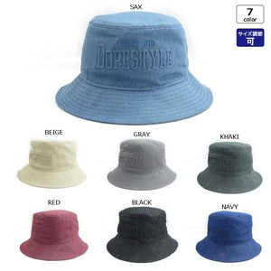 Color Denim Emboss BUCKET HAT