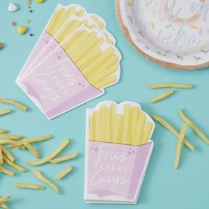 【GingerRay/イギリス】ペーパーナプキン Fries Before Guys