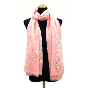 2018 S/S Stole Polyester Material Large Format S/S Stole Dot Pink