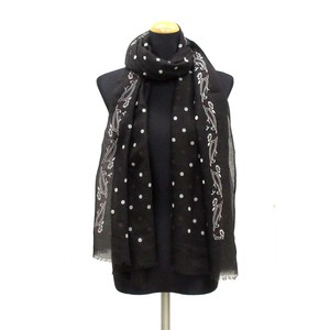 2018 S/S Stole Polyester Material Large Format S/S Stole Dot Black