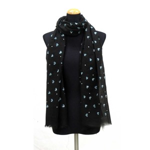 2018 S/S Stole Polyester Material Large Format S/S Stole Heart Black