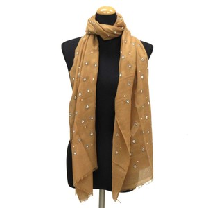 2018 S/S Stole Polyester Material Large Format S/S Stole Heart Brown