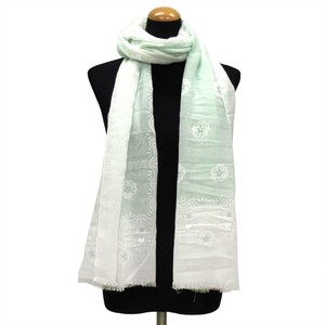 2018 S/S Stole Polyester Material Large Format S/S Stole Floral Pattern Green