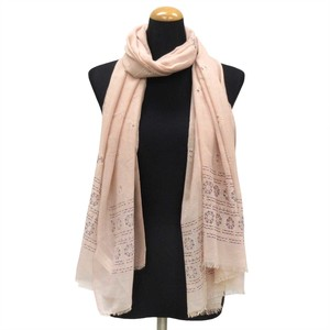 2018 S/S Stole Polyester Material Large Format S/S Stole Ethnic Pink