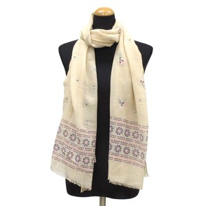 2018 S/S Stole Polyester Material Large Format S/S Stole Ethnic Beige