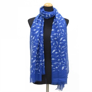 2018 S/S Stole Polyester Material Large Format S/S Stole Leaf lame Blue