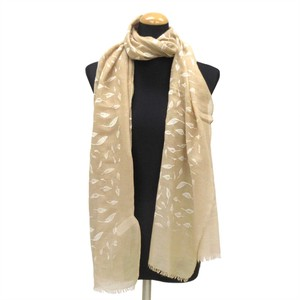 2018 S/S Stole Polyester Material Large Format S/S Stole Leaf lame Beige