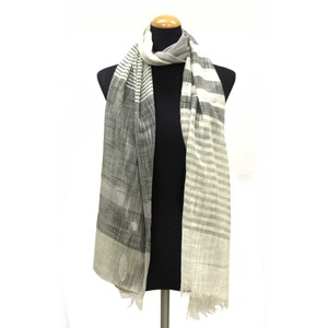 2018 S/S Stole Polyester Material S/S Stole Border Gray