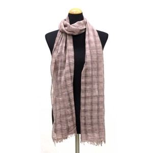 2018 S/S Stole Material S/S Stole Checkered Dark Brown