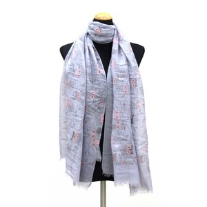 2018 S/S Stole Polyester Material Large Format S/S Stole Owl Blue