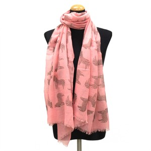 2018 S/S Stole Polyester Material Large Format S/S Stole Zebra Pink