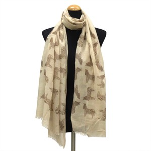 2018 S/S Stole Polyester Material Large Format S/S Stole Zebra Beige