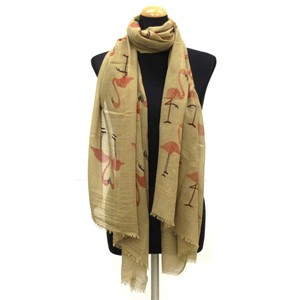 2018 S/S Stole Polyester Material Large Format S/S Stole Flamingo Brown