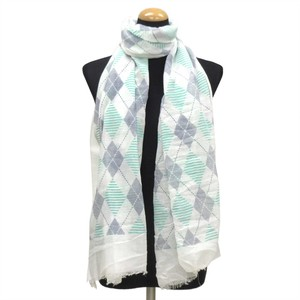 2018 S/S Stole Polyester Material Large Format S/S Stole Argyle White