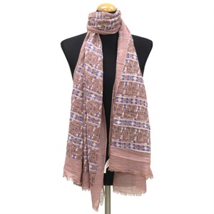 2018 S/S Stole Polyester Material Large Format S/S Stole Elephant Pink