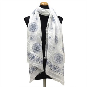 2018 S/S Stole Polyester Material Large Format S/S Stole Circle White