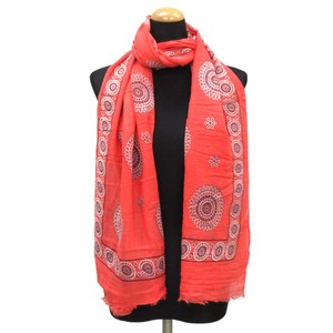 2018 S/S Stole Polyester Material Large Format S/S Stole Circle Red