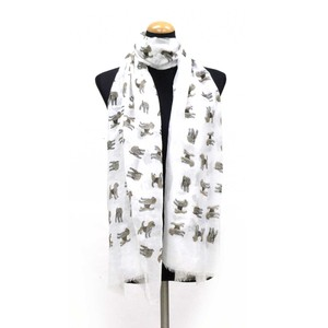 2018 S/S Stole Polyester Material Large Format S/S Stole Dog White
