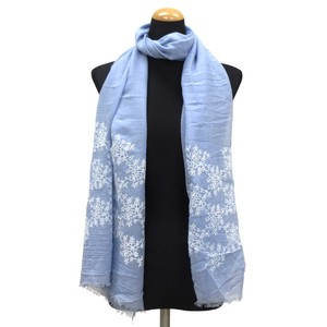 2018 S/S Stole Polyester Material Large Format S/S Stole Floral Pattern Blue
