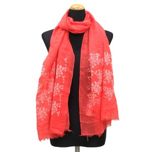2018 S/S Stole Polyester Material Large Format S/S Stole Floral Pattern Red
