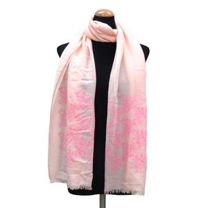 2018 S/S Stole Polyester Material Large Format S/S Stole Floral Pattern Pink
