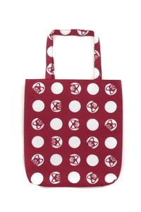 Hand Towel Tote Dot Dark Red Hand Maid Bag Japanese Craft