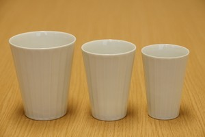 Arita Ware Bamboo Forest White Porcelains Sharpen Free Cup