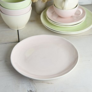 Disposal item Color Plate Pink China Western Plates & Utensils
