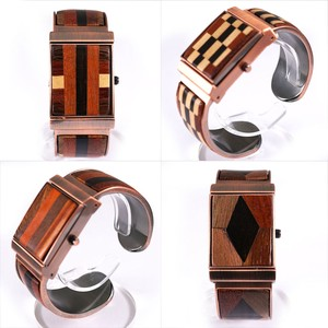 Pole Watch Attached Wood Bangle Watch Wooden Ladies Wrist Watch Fashion