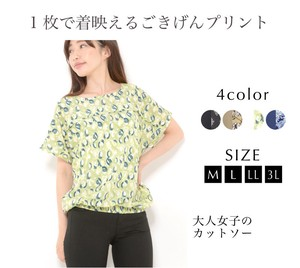 Cut And Sewn Ladies Top Print Tuck