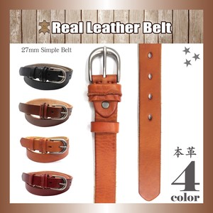 Genuine Leather Leather Belt Narrow Buckle Unisex Adjustment