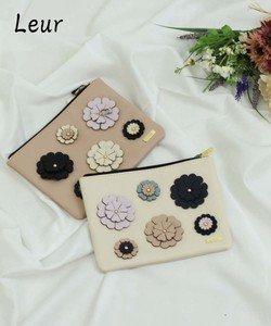 Period 2018 A/W Flower Decoration Flat Pouch