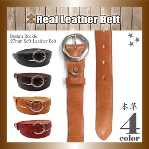 Genuine Leather Leather Belt soft Leather Narrow Design Buckle Unisex Adjustment