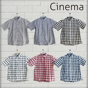For Summer Wide Blow Checkered Short Sleeve Shirt