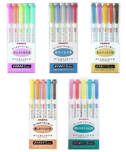 Zebra Mild Liner 5Colors Set