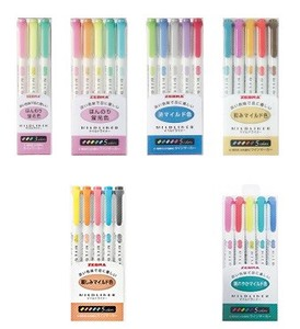 Zebra Mild Liner 5Colors Set [marker pen]