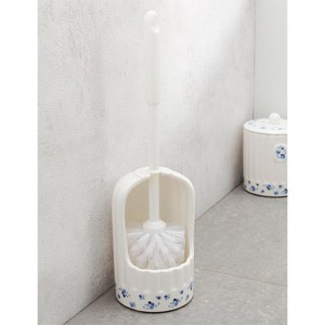 Toilet Brush Porcelain Food Container Floral Pattern