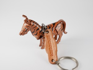 Leather Key Ring Zebra