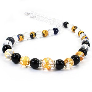 Onyx Crystal Design Necklace Good Luck