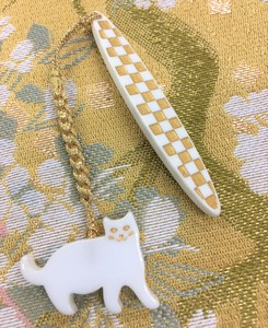 Pure Silk Ornaments for Obi Belt Cat