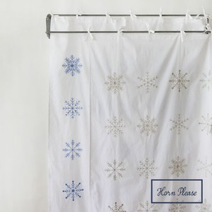 Curtain Snow Flake Embroidery