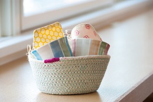 Rope Basket Bi-Color Bucket Bowl