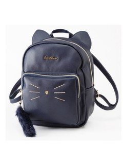 Cat Motif Backpack Cat Girl Kids Bag Student